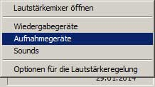 Windows Aufnahmegeräte anzeigen