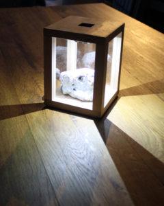 Solarwürfel aus Holz